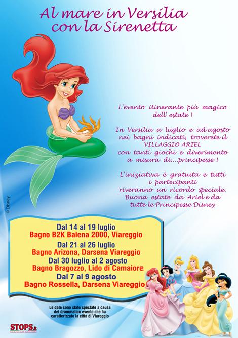 Disney Princess: al mare con Ariel, La Sirenetta   Eventi   Viareggino