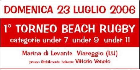 1° torneo beach rugby