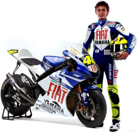 Valentino Rossi with Yamaha Fiat