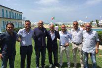 Il Viareggio presenta il nuovo allenatore ('Gigi' Pagliuca) e il nuovo dg ('Alex' Doga)