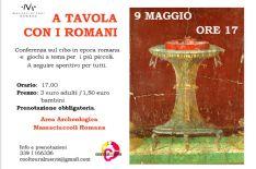 A tavola con i Romani. Conferenza presso l'Area Archeologica di Massaciuccoli romana.