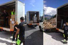 Partiti da Viareggio due convogli carichi di offerte che i cittadini di Viareggio hanno diretto a Rieti e Amatrice