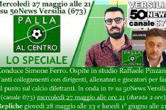 Stasera ore 21 sul canale 673 e in streaming. Conduce Simone Ferro, in studio con Raffaele Pinzani e collegamenti dalla Serie D alla Seconda categoria