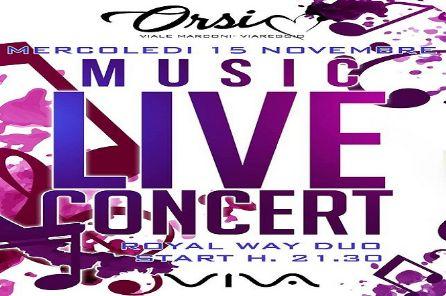 Mercoledì 15 novembre torna l'appuntamento con la musica Live promosso da Viva