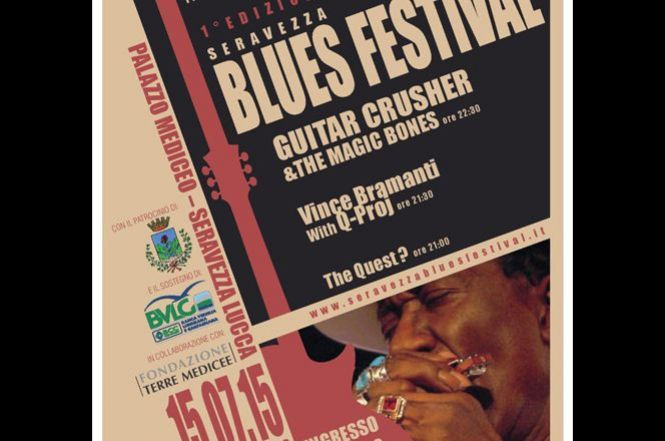 Seravezza Blues Festival con la leggenda Guitar Crusher and the Magic Bones