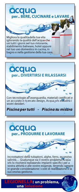 ACQUA, Azienda leader nel trattamento dell'Acqua sia per uso industriale che per uso domestico ...
